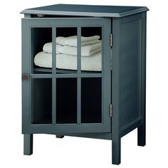 Windham Storage Cabinet One Door Pewter Aqua - Threshold ...