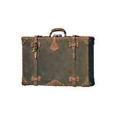 Amazon.com: Handmade Leather Suitcase Luggage Valise They'll Fight... ❤ liked on Polyvore featuring bags, luggage, fillers, suitcases and accessories