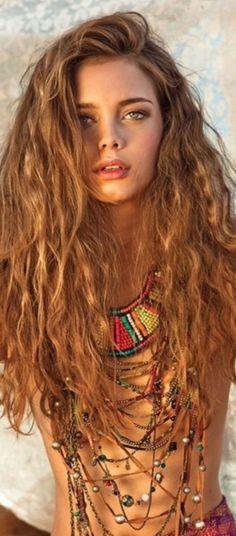 #boho Goddess~Beach Wave Hair~ #hairstyles