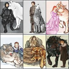 The Starks and their Direwolves Game Of Thrones Artwork, Got Game Of Thrones, Fantasy Inspiration, Character Inspiration, Character Design, Game Of Thrones Wights, Got Dragons, Game Of Trones, Iron Throne