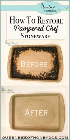 How To Restore Pampered Chef Stoneware - Cleaning Hacks Safe Cleaning Products, Cleaning Hacks, Cleaning Recipes, Cleaning Solutions, Pavlova, Pampered Chef Stoneware, Pampered Chef Recipes, Pampered Chef Products, Pampered Chef Pizza Stone
