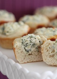 Baked Spinach Dip Mini Bread Bowls - Picky Palate