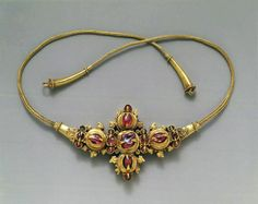 Necklace with Inset Stones and Braided Wire Period: Eastern Javanese period Date: 8th–early 10th century Culture: Indonesia (Java)
