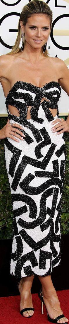 Heidi Klum 2017 Golden Globes