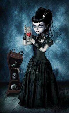 The Black Queen - Gothic Life Dark Gothic Art, Gothic Artwork, Gothic Fantasy Art, Gothic Fairy, Emo Art, Goth Art, Arte Horror, Horror Art, Gothic Kunst
