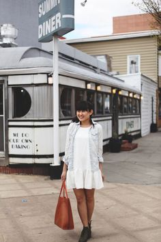 Small Town Diners   Drop Waist Dresses