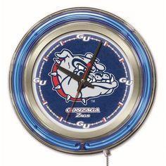 "Gonzaga Bulldogs 15"" Neon Clock"