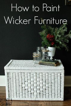 How to paint wicker the easy way. Painting rattan, wicker and cane furniture or accessories can be hard, but this tool makes it easy! DIY tutorial and instructional video for painting wicker here!
