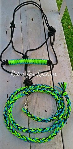 Customize your tack with custom braided rope halters and matching lead ropes for your horse! High quality rope halters and lead ropes made by hand in the USA with your choice of color accent, hand bra
