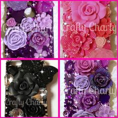 Anyone a flower fan? Flower Power cases are for you x #craftycharly #barnsley #madeinyorkshire #decoden #flowerphonecase