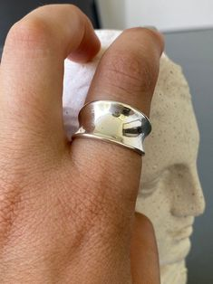 Silver ring adjustable silver ring wide silver ring Greek   Etsy