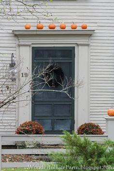 Ordinaire Autumn Front Doors In New England