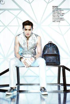 MCM x EXO Collaboration Micro Site - Luxury leather goods, Handbags and Accessories, EXO Kyungsoo, Chanyeol, K Pop Boy Band, Boy Bands, Shinee, Kim Joon Myeon, Exo Ot12, Kim Taehyung, Korean Entertainment