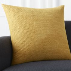 """Maura Yellow 23"""""""" Pillow with Feather-Down Insert"""