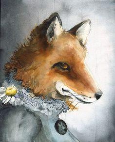 Fox Portrait - by Amber Alexander