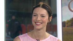 "Caitriona Balfe stars in TV's ""Outlander,"" which is about to return for its highly anticipated second season. She plays Claire, a World War II nurse who was transported through time to 18th-century Scotland, and she talks about how her costar Sam Heughan was obsessed with the fake pregnancy belly she wore for the show."