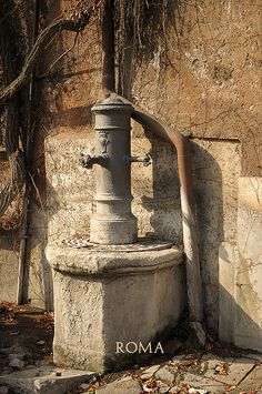 Rome, Italy ~ old fountain.