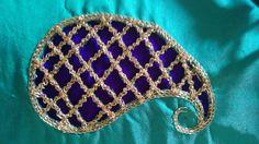 Aari embroidery cut work design