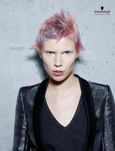 Electric Youth (Short). Essential Looks Spring-Summer 2013. Schwarzkopf Professional.-pin it by carden