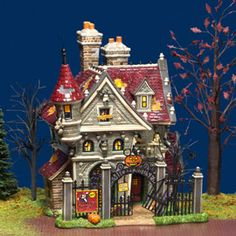 department 56 products mickeys haunted house view lighted buildings