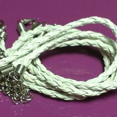 5 pcs lots of these White leather braided bracelets now available in my Etsy shop, beadyfindings. Please take a look. Thanks Fiona