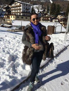 Cortina Style: giubbino in cachemire Lagnamelagna, gilet volpe, LV Alma