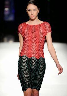 CROCHE DA ANJINHA: Vestidos de croche Etnica,geometricos,com listras...lindos de viver...