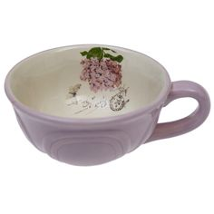 Pink Botanical Breakfast Cup £3.95 from DotComGiftShop