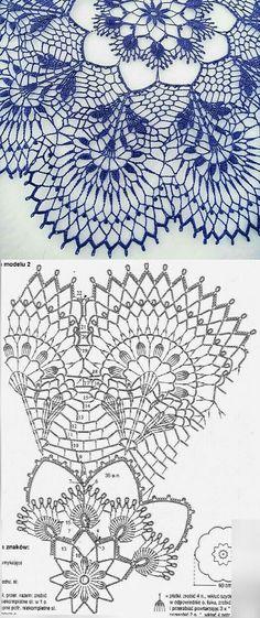 Crochet Bedspread Pattern, Free Crochet Doily Patterns, Crochet Doily Diagram, Crochet Mandala, Crochet Motif, Crochet Designs, Knitting Patterns, Crochet Home, Crochet Crafts