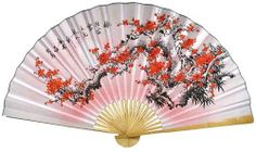 Purity Blossoms Asian Wall Fans