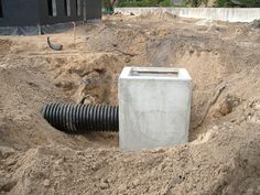 Catch Basin Install Drainage Ideas, Dry Creek Bed, Building Systems, Farm Gardens, Under Construction, Outdoor Projects, Basin, Home Remodeling, Landscaping