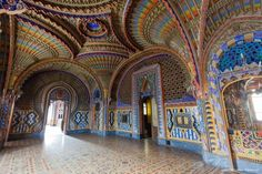 Sammezzano castle was built in the early 17th Century in the Tuscan town of Reggello