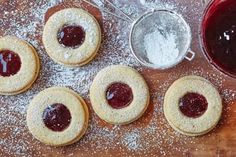 Linzer cookies might look like another pretty sandwich cookie, but these sweet-tart cookies have a rich, tender crumb, thanks to a nearly invisible ingredient. Almonds turned into almond flour make an everyday sugar cookie dough a tender, melt-in-your-mouth treat, fragrant with the warm notes of toasted nuts. Two cookies serve as the bookends to the sweet and sticky jam of your choice to transform into a holiday cookie made for customization. So if you can toast some nuts and roll out a…