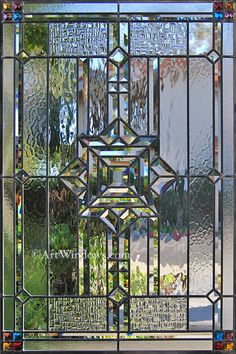 Stained Glass Beveled Glass Window via Pinterest                                                                                                                                                                                 More