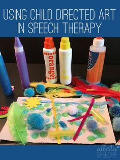 Like to do crafts in speech therapy? If yes, here are some great reasons to add child directed art to your list of crafts.