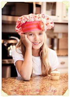 Sugar On Top Chef's Hat Tutorial - Make boy version for Levi's birthday