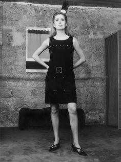 Catherine Deneuve wearing YSL Rive Gauche, 1966