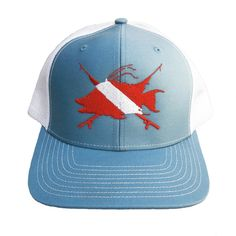 7232bf229aedf Hogfish Dive Spears Reel Fishy Structured trucker hats with cotton twill  front panels and
