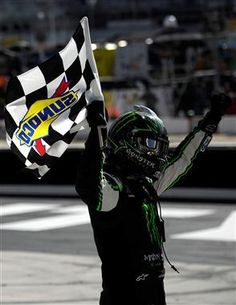 Busch Proves Once Again That He's Unstoppable in Thunder Valley | Fan4Racing  http://fan4racing.com/2014/03/15/busch-proves-once-again-that-hes-unstoppable-in-thunder-valley/  Kyle Busch, driver of the #54 Monster Energy Toyota, celebrates with the checkered flag after winning the NASCAR Nationwide Series Drive To ...