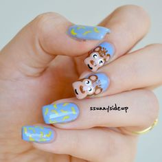 ssunnysideup: Monkey nails with kiko, china glaze and essence polishes