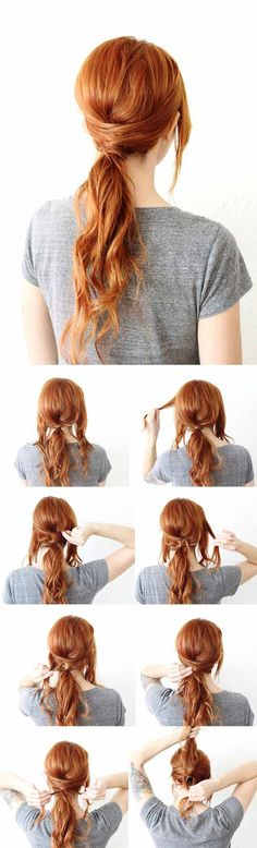 Super Sexy Hairstyles- CrissCross Ponytail Half Up Half Down Hairstyle - Easy Hair Styles For Long Hair, Medium Hair, And For Going Out. If You Have Short Hair, Try These Sexy Hairstyles With Extensions, Or Try A Hair style With Bangs. Try A Sexy Updo Or A Curly Look That Is Shoulder Length. These Tutorials For Sexy Hairstyles And Hairdo's Are Super Simple And Step By Step. Super-Sexy Hairstyles That Are Actually Easy To Do And Will Make You Look Hot…