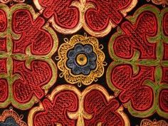 The Embassy of the Republic of Kazakhstan in the UK Vermilion Bird, Asian Continent, Armenia Azerbaijan, Art Tribal, Kazakhstan Travel, Rose Leaves, Indian Textiles, Central Asia, Abstract Pattern