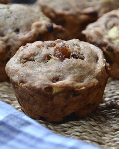 Chunky Apple Cinnamon Raisin Muffins. These are so good and make a wonderful snack or breakfast on-the-go! #vegan