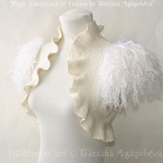 Items similar to Feather Fur Shrug Ivory Bridal Black Swan Costume Bolero Felt Jacket Marabou Wool Cover Up Wedding Wing Romantic Bridal Clothes on Etsy Crochet Shrug Pattern Free, Black Swan Costume, Coque Feathers, Bridal Bolero, Wedding Bolero, Shrug For Dresses, Furano, Cover Tattoo, Oui Oui