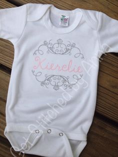 Personalized monogram tank top sparkle baby girl by bellapiccoli elegant monogrammed baby onesie personalized onesie baby gift negle Gallery