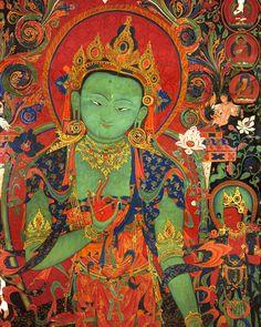 paz - fé - espiritualidade - esperança - amor - energia - oração - meditação - reflexão -  conhecimento - Green Tara, Tibetan