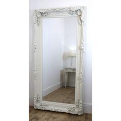 Chelsea White Ornate Leaner Antique Floor Mirror 36 x 72 X Large White Full Length Mirrors, White Ornate Mirror, White Floor Mirror, Antique Floor Mirror, Victorian Mirror, Victorian Bedroom, Wood Mirror, Floor Mirrors, Mirror Mirror