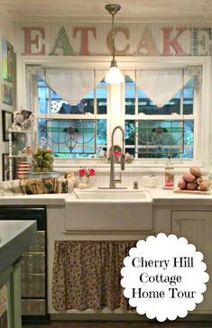 Poofing the Pillows: Cherry Hill Cottage