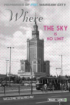Where the sky is no limit! Postcard by Wars Sawa Design, Warszawa, Warsaw, Memories of PRL.