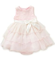 Rare Editions Baby Girls 12-24 Months Lace-Bodice Sheer-Overlay Dress | Dillards